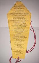 Photo: ... als Eintrittskarte - mit den jeweiligen Narrenrufen aufgedruckt