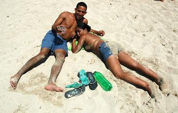 Photo: fooling around on the beach. cuba. Tracey Eaton photo