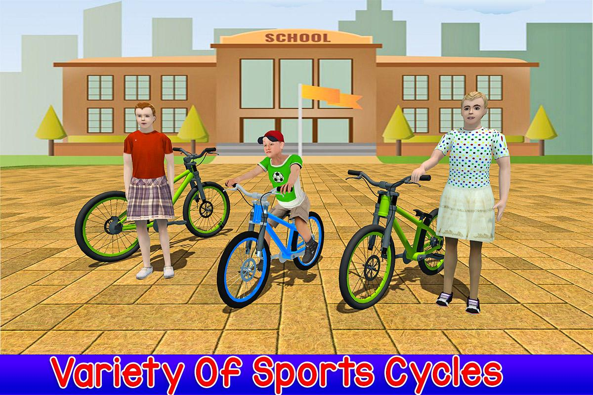 Kids Bicycle Rider School Race- screenshot