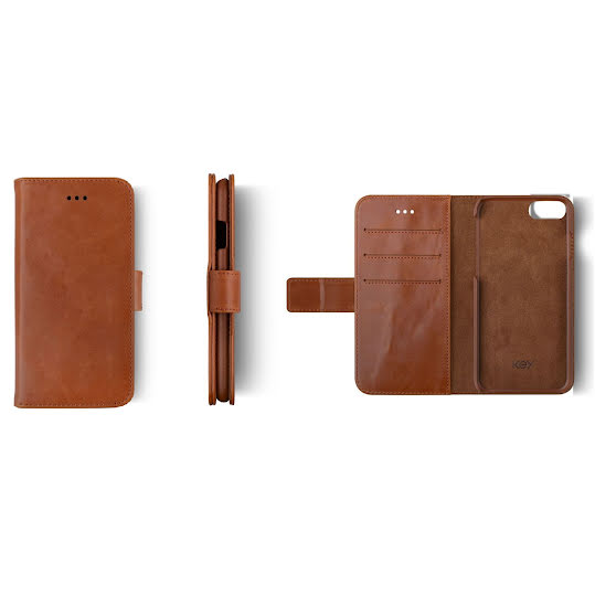 Key Premium Fixed Wallet iPhone 7/8 Brun
