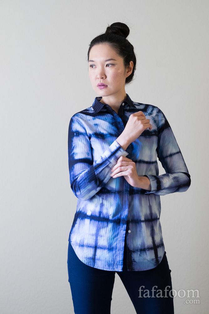 Bind Resist Dye Shirt, Square Accordion Fold Style - DIY Fashion Garment | fafafoom.com