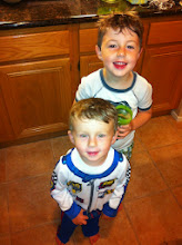 Photo: Finny in Race Car Driver Pajamas (with Clark)