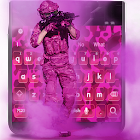 Pink Military Keyboard icon