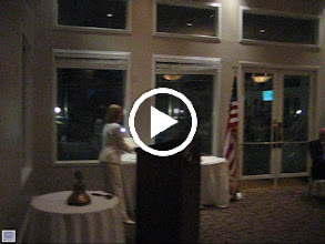 Video: Assistant  District Governor Karen Weiss presenting a PAUL HARRIS FELLOW to Dennis Robinson. - June 8, 2012