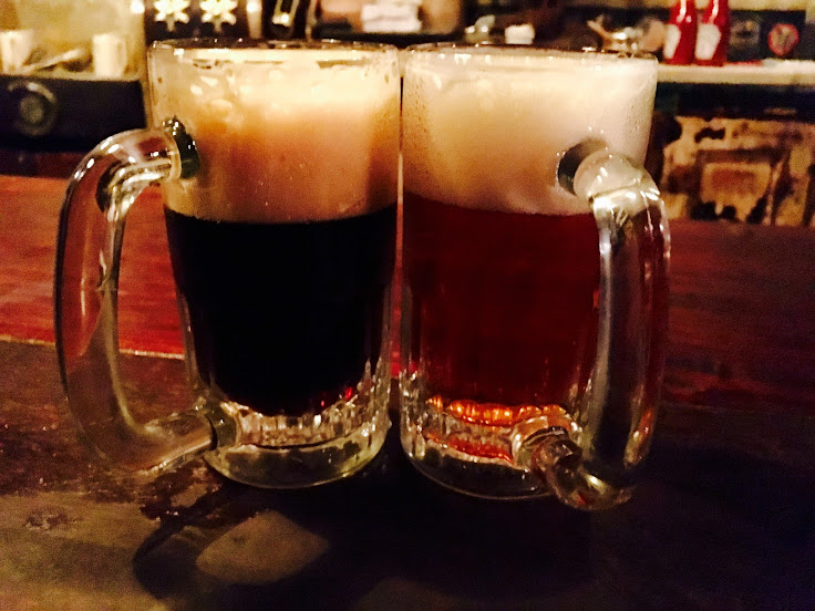 The Dark and the Light.  Exclusively at McSorley's.