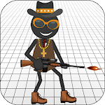 Gangster StickMan Icon