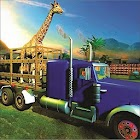 Animal animal zoo camion de transport d'animaux 3d icon