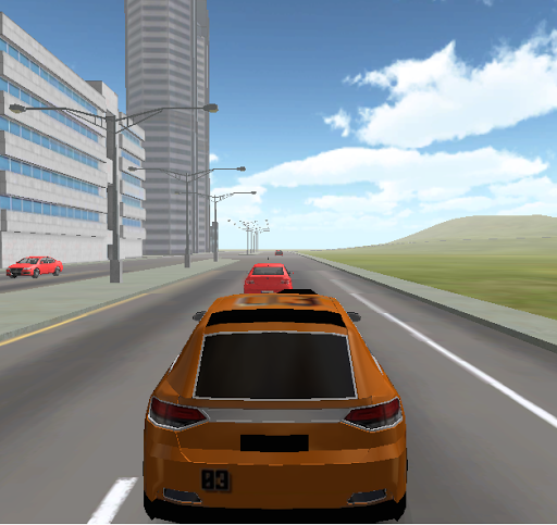 豪华轿车市3D模拟