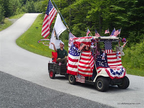 Photo: The world's smallest 4th of July parade at Smugglers' Notch State Park by Aaron Jacobs