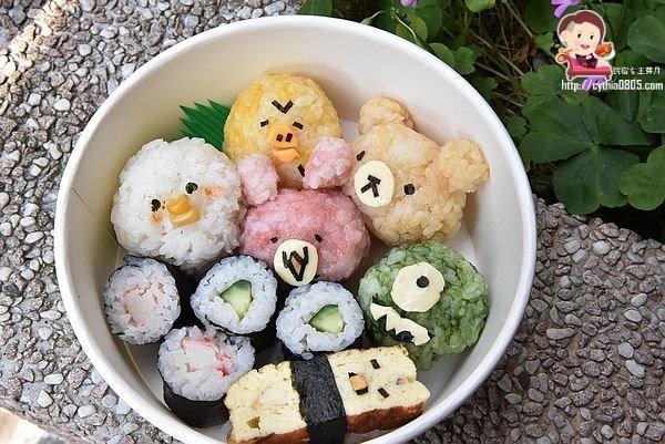 桃園區美食-啊雜 AAAzakka-可愛企鵝柴犬壽司餐盒好吸晴,兔兔P助捨不得吃,一起來野餐吧!