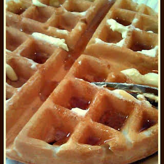 How To Make Restaurant Style Homemade Belgian Waffles.