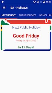 App SA - Holidays (Public+School) APK for Windows Phone