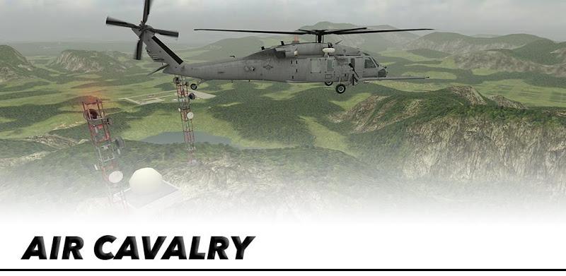 Helicopter Sim Flight Simulator Air Cavalry Pilot - APK MOD RACK- Dinheiro Infinito