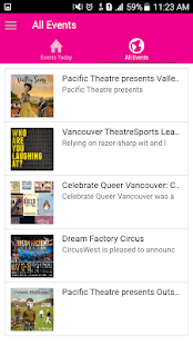 VancouverEvents- screenshot thumbnail