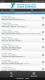 Schedules-Greater Wichita YMCA- screenshot thumbnail