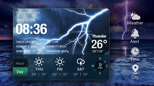 Live weather & Clock Widget Apk apps 9