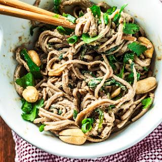 Ginger Peanut Soba Noodles