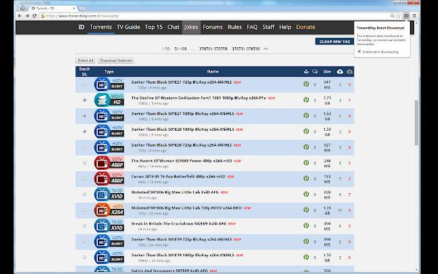 TorrentDay Batch Download
