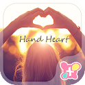 Cute Theme-Hand Heart- icon