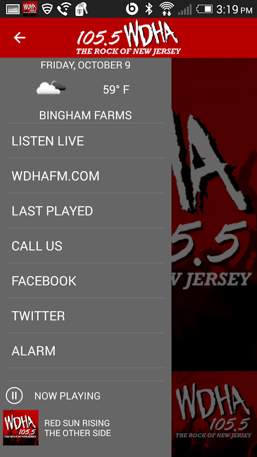 105.5 WDHA Player- screenshot
