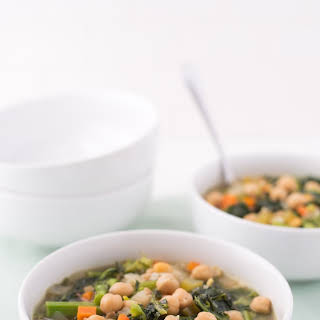 Alice Waters' Chickpea and Broccoli Rabe Soup.