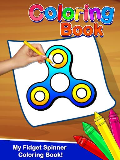 Fidget Spinner Coloring Book For Kids 1.0 screenshots 1
