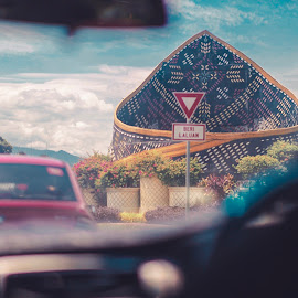 The Giant Sigah by Lydelter  Bolodin  - Artistic Objects Clothing & Accessories ( cars, blue sky, traditional, 50mm, urban, road, street, sabah, hat, malaysia, canon, architecture )