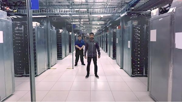 360 degree tour of a Google data center