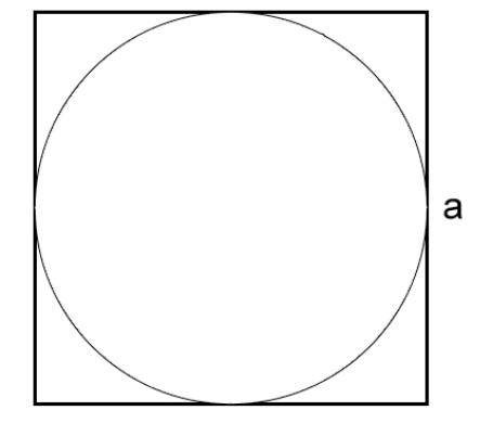 окружность, вписанная в квадрат
