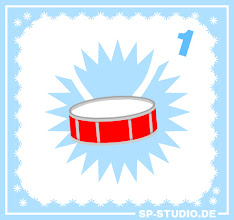 Photo: The big www.SP-Studio.de CHRISTMAS SPECIAL has started! Like the years before I will surprise you with a new item every day. I hope you enjoy this Advent calendar and of course you can tell me about your own wishes here.  Let's start with this little drum. Additionally I fixed a bug with the colors for makeup and fashion accessories.