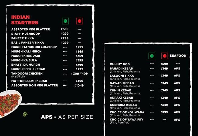 Trap Lounge menu 2