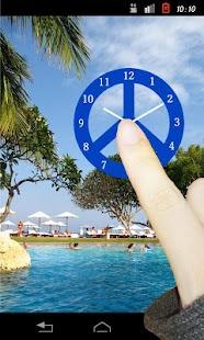 Peace Mark(Blue Color) - náhled