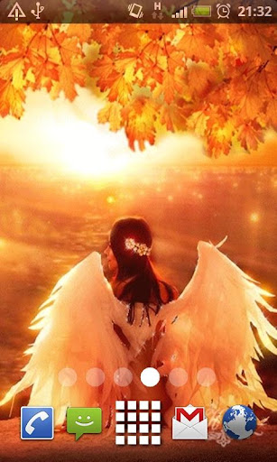 Autumn Angel Live Wallpaper