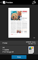 Screenshot of Canon PRINT Business