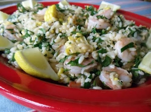Click Here for Recipe: Roasted Shrimp, Corn, Orzo, Lemon, and Parsley Salad