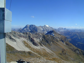 Photo: am Gipfelkreuz des Hinteren Grauspitz, 2474 m