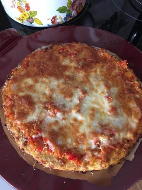 "Crazy Good Cauliflower Pizza Recipe ""Wow! Awesome! And I'm not a big fan..."
