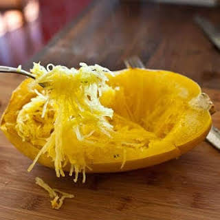 Baked Spaghetti Squash Recipe with Garlic and Butter.