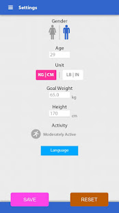 App Weight loss, Calorie counter APK for Windows Phone
