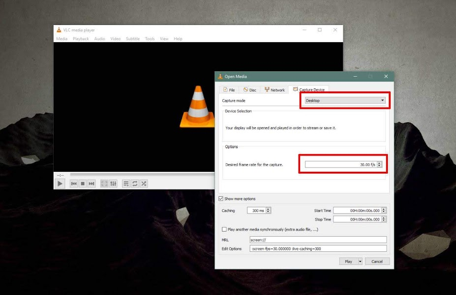 VLC Record Mode