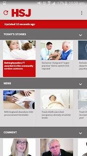 HSJ - Health Service Journal screenshot