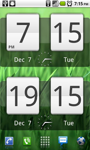 Sense Analog Clock Widget screenshot 1