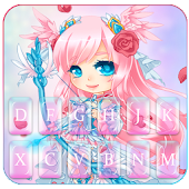 Cupid Pretty Girl Keyboard Theme