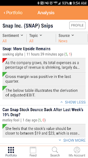 Stocksnips- screenshot thumbnail