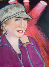 "Photo: Portrait of Dallas ~ acrylic on paper ~ 29"" x 22"""