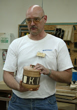 "Photo: Don Van Ryk - 8""-tall cookie jar of oak, walnut, and aspen(yes, it was full of cookies!)."