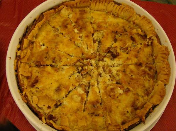 Onion, Cheese And Bacon Tart Recipe