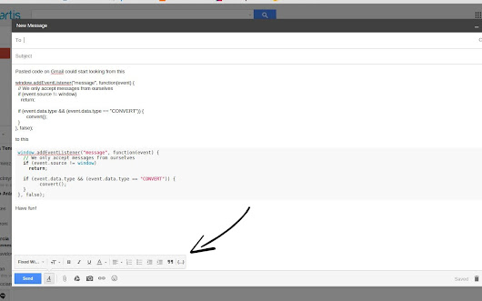 Gmail syntax highlighting
