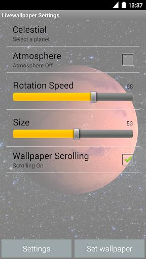Mars Live Wallpaper screenshot 5