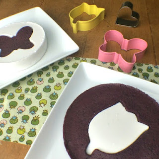 Embedded Shape Jello~ Blueberry Mint and Creamy Vanilla